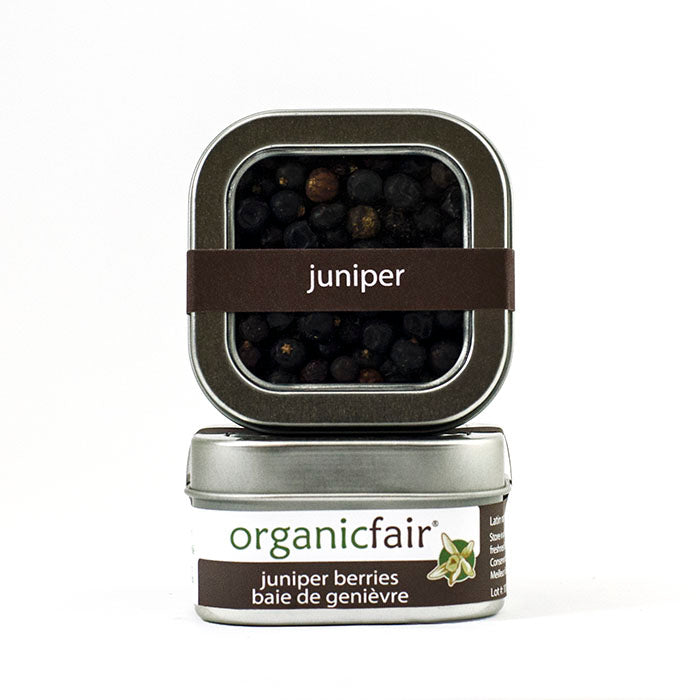 organicfair juniper berries tin