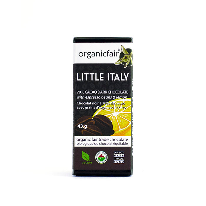 organicfair little italy chocolate bar