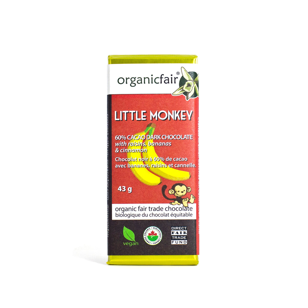 organicfair little monkey chocolate bar