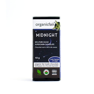 organicfair midnight chocolate bar