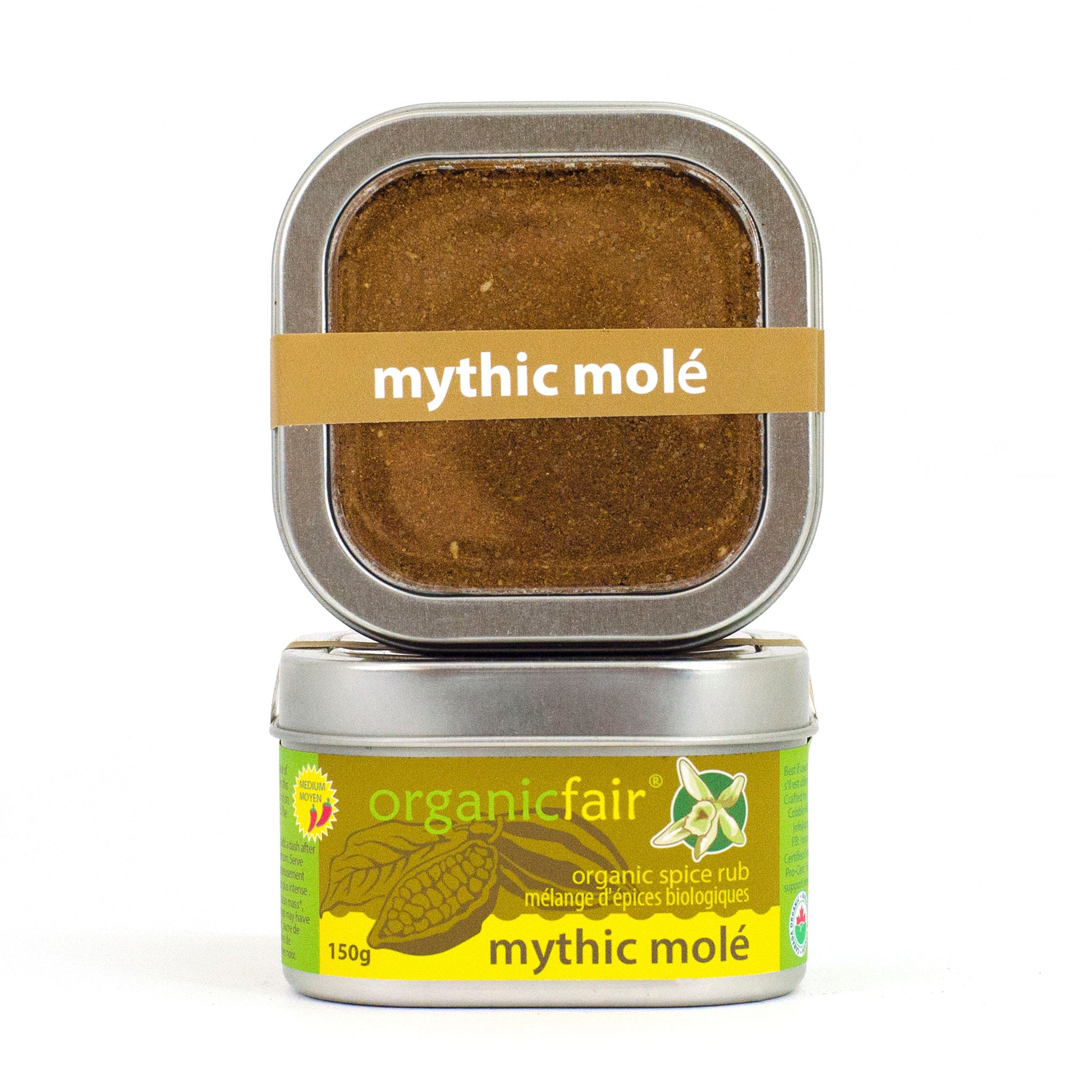 organicfair mythic mole spice rub tin