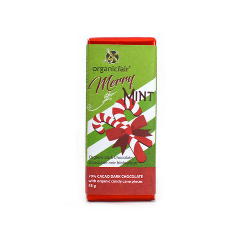 organicfair merry mint chocolate bar
