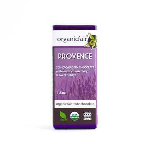 organicfair provence chocolate bar