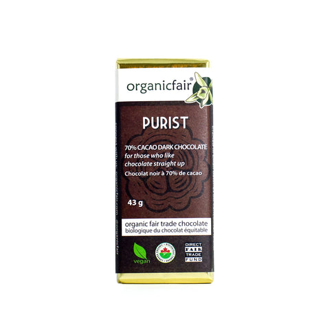 organicfair purist chocolate bar