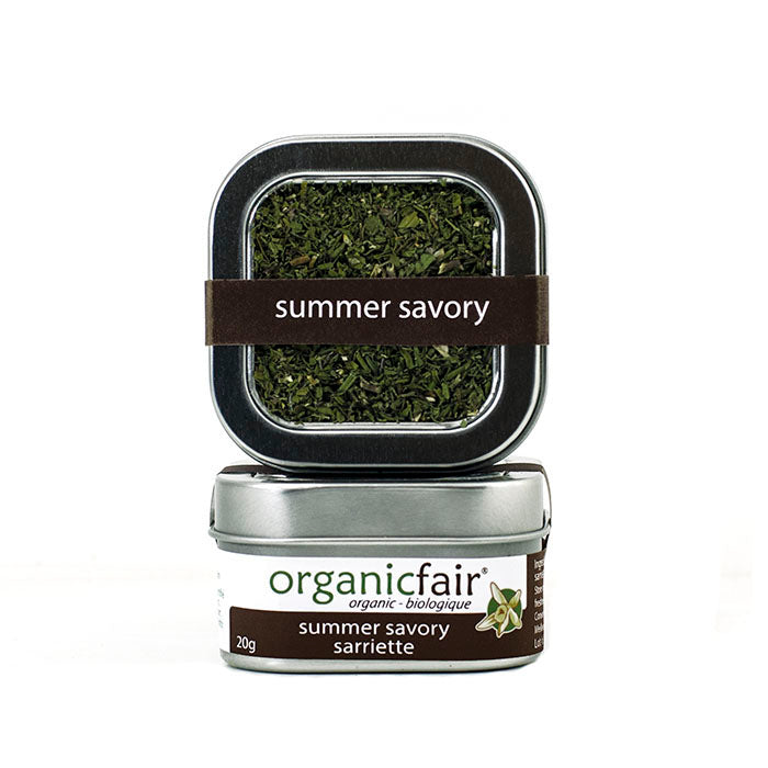 organicfair summer savory leaves tin