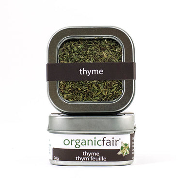 organicfair thyme leaves tin