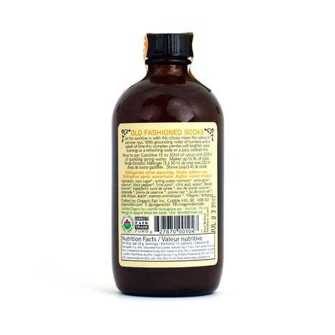 organicfair turmeric lemongrass soda syrup back label