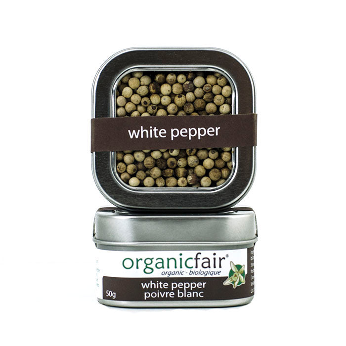 organicfair white peppercorns