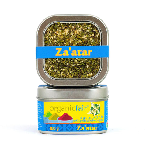 organicfair za'atar spice rub tin