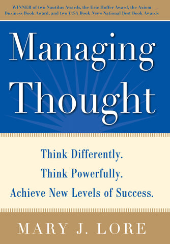 Managing Thought by Mary Lore Hardcover and Kindle Available on Amazon