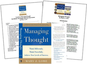 Managing Thought Hardcover and Kindle Book Jacket, Table of Contents and Intro by Mary J. Lore (PDF)