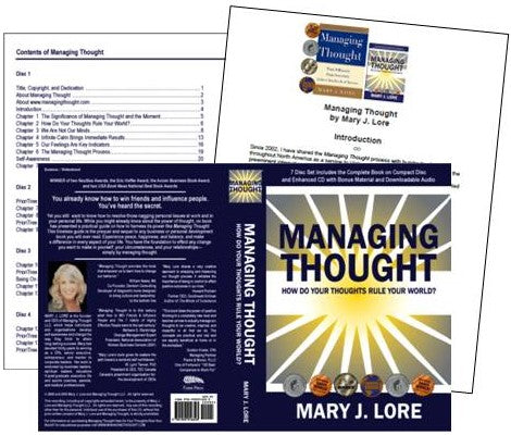 Managing Thought Audio Book Cover, Table of Contents and Intro by Mary J. Lore (PDF)