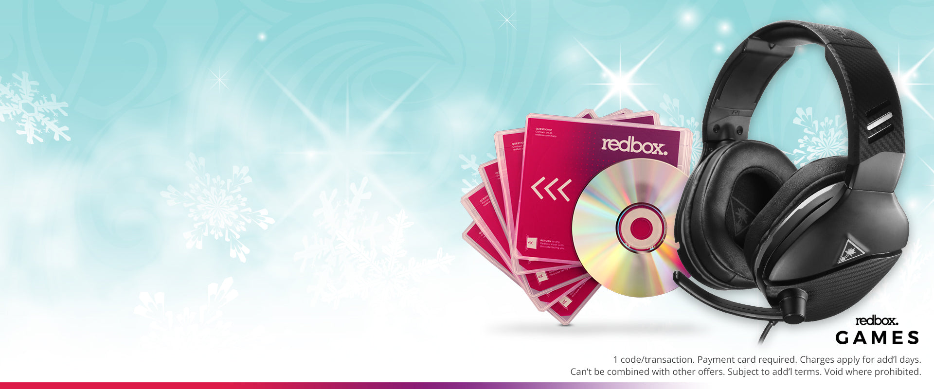 5 free 1-night redbox game rentals