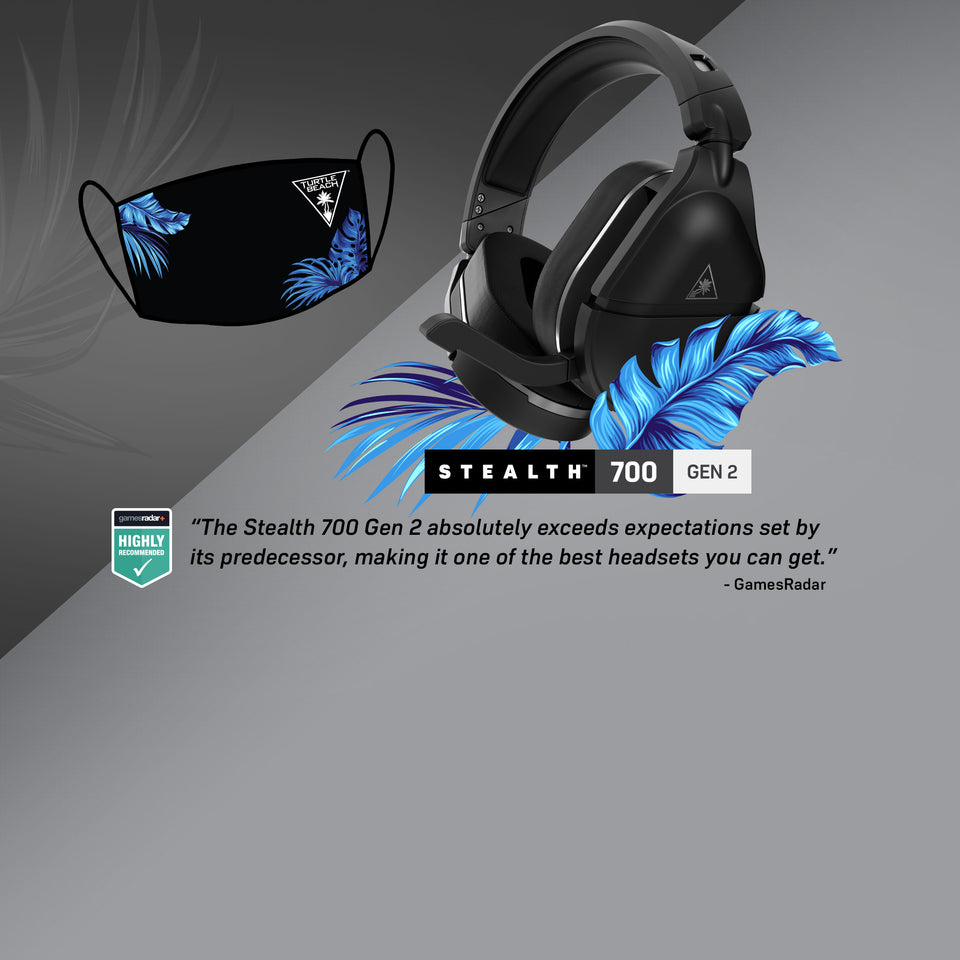 Free Turtle Beach Mask with Purchase of the Stealth 700 Gen 2!