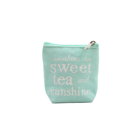 Southern as Sweet Tea and Sunshine Small Pouch