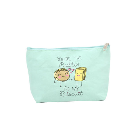 Butter to My Biscuit Canvas Pouch