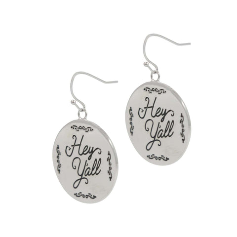 Paula Deen Hey Y'all Silver Tone Earrings by JTV
