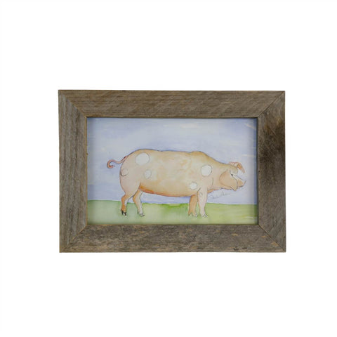 Paula Deen's Watercolor 5X7 Framed Pig