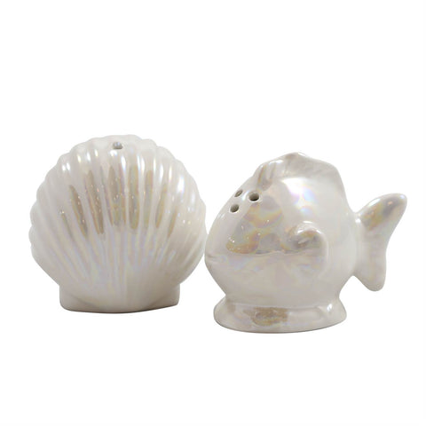 Shell and Fish Salt & Pepper Shaker set