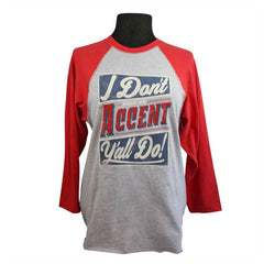 Accent Y'all Raglan S