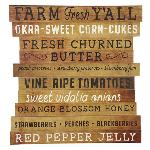 Farm Fresh Y'all Wood Sign