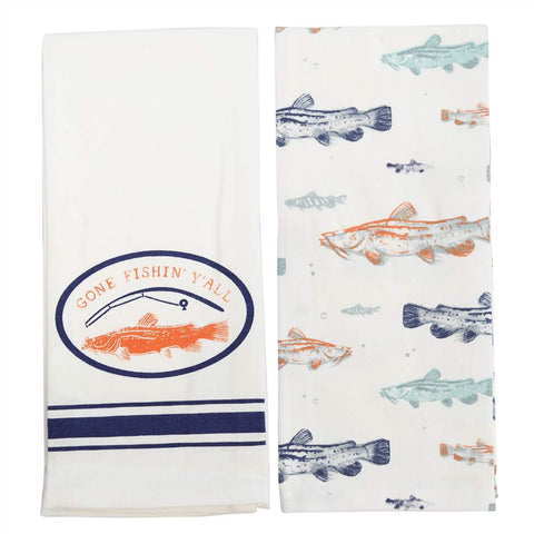 Gone Fishin Y'all Towel Set