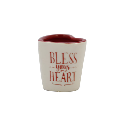 Bless Your Heart Shaped Shot Glass