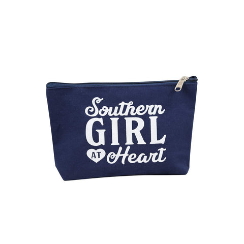 Southern Girl at Heart Canvas Pouch
