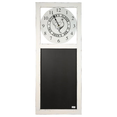 Kitchen's Closed Clock/Chalkboard Larger Sign