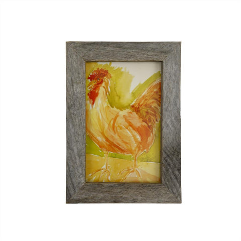 Paula Deen's Watercolor 5X7 Framed Rooster