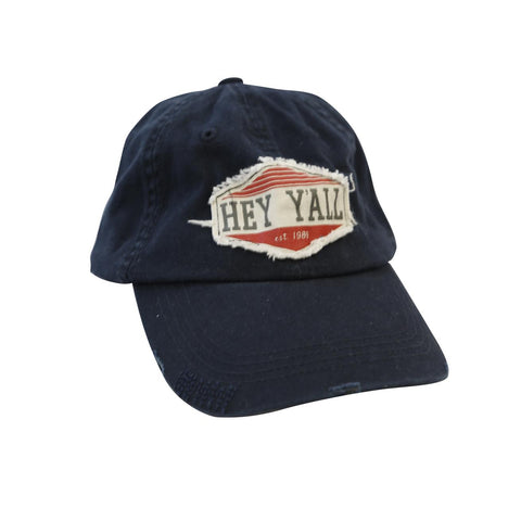 Hey Y'all Patch Hat Navy