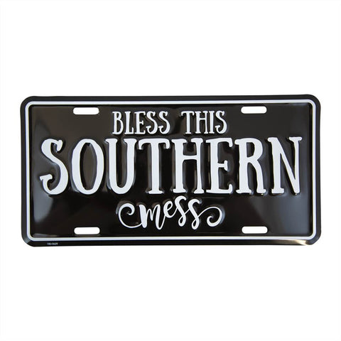 Bless This Southern Mess Licence Plate