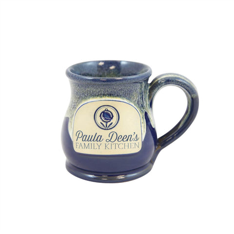 Paula Deen's Round Belly Coffee Handmade Mug 10oz Navy