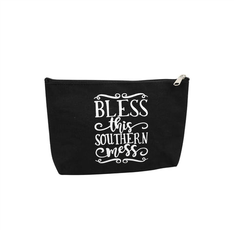 Bless This Southern Mess Canvas Pouch