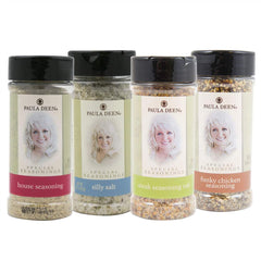 Spice It Up Bundle includes 5.7oz. House Seasoning, 6.7oz. Silly Salt, 5.5oz. Steak Seasoning & 4.6oz. Funky Chicken Seasoning