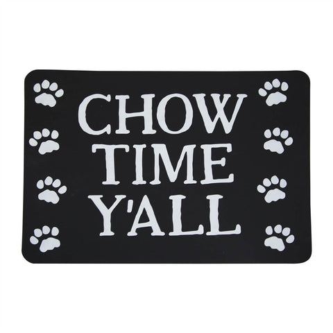 Chow Time Y'all Pet Place Mat