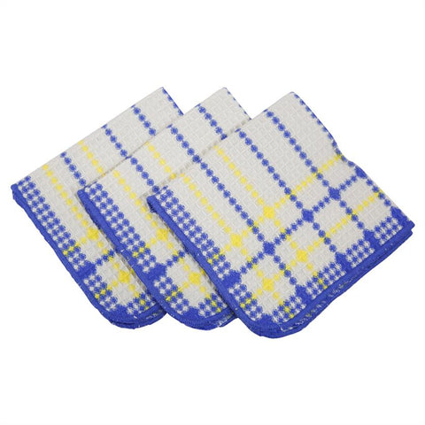 Blue & Yellow Dishcloth 3 pc. Set