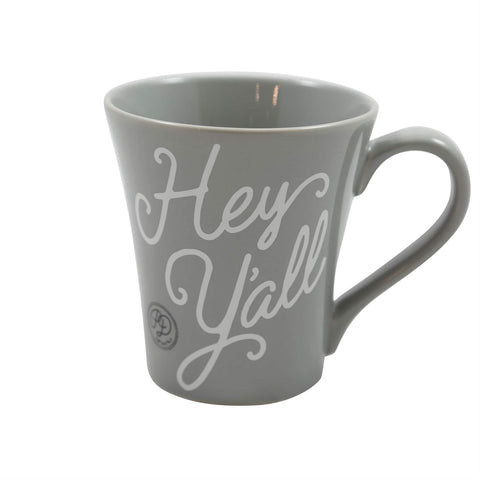 Hey Y'all Gray Mug
