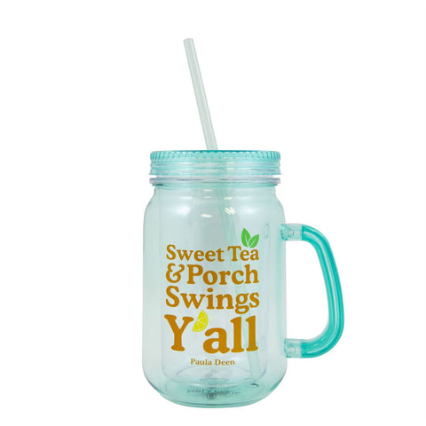 Sweet Tea & Front Porch Y'all Tumbler w/straw