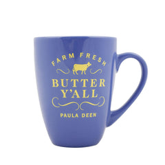 Butter Y'all Farm Fresh Latte Blue Mug