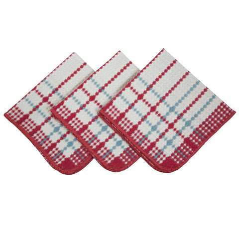 Blue & Red 3 pc. Dishcloth Set