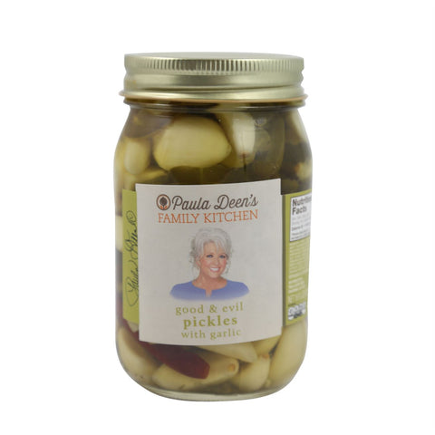 Paula Deen's Family Kitchen Good & Evil Pickles w/Garlic 16oz