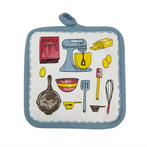Paula Deen Kitchen Icon Pot Holder & Towel Set