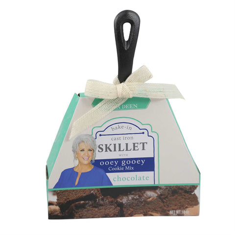 Paula Deen Cast Iron Skillet Chocolate Ooey Gooey Set