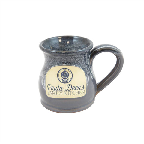 Paula Deen Round Belly Handmade Coffee Mug 10oz Black