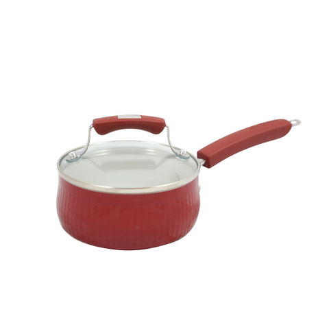 Saucepan Covered Red 1qt