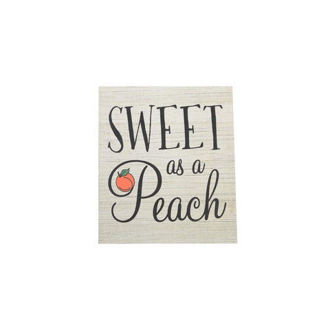 Sweet as a Peach Mini wood block sign