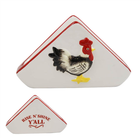 Retro Rooster Napkin Holder