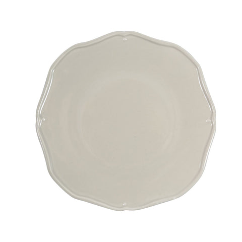 Paula Deen Gray Stoneware Scalloped Edge Salad Plate