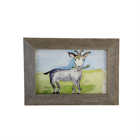 Paula Deen's Watercolor 5X7 Framed Goat